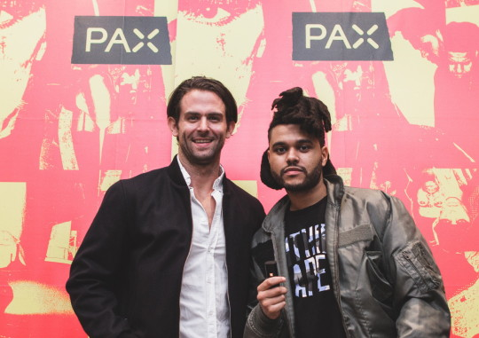 Richard Mumby of PAX with The Weeknd