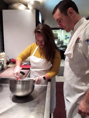 Making Mozzarella Balls with Chef Silvestro of Scaddabush