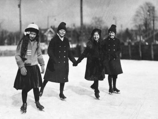 Old Skating Photographs -, Four children skating. - [between 1910 and 1912]