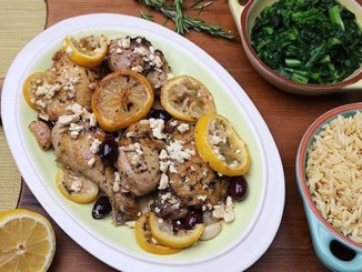 Roasted Mediterranean Chicken with Feta and Olives