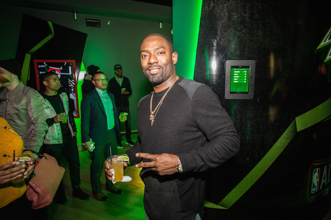 Hassan Johnson at NBA Mountain Dew Event by Joel Levy for Toronto NBA All-Star weekend