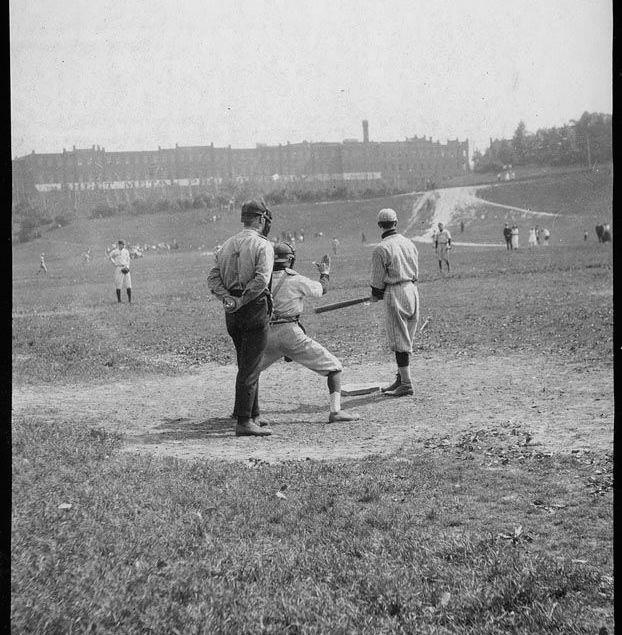 Baseball players, Riverdale Park - 193? vintage baseball photographs