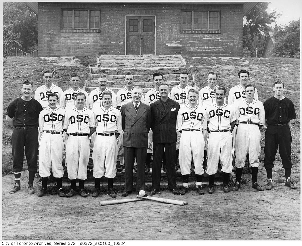 Department of Street Cleaning - Baseball team 1948 vintage baseball photographs