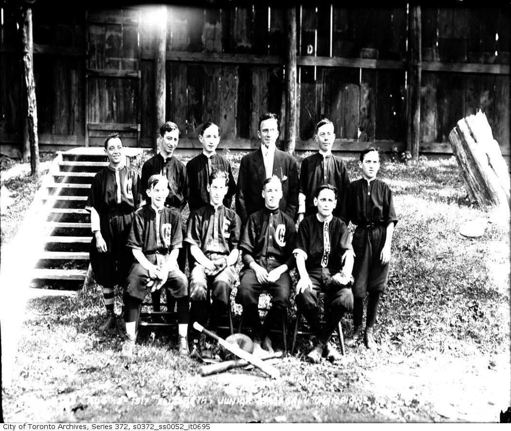 Elizabeth Playground Junior Baseball Champions aug 19 1917