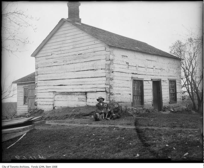 Log house, Oakville. - [1908?]
