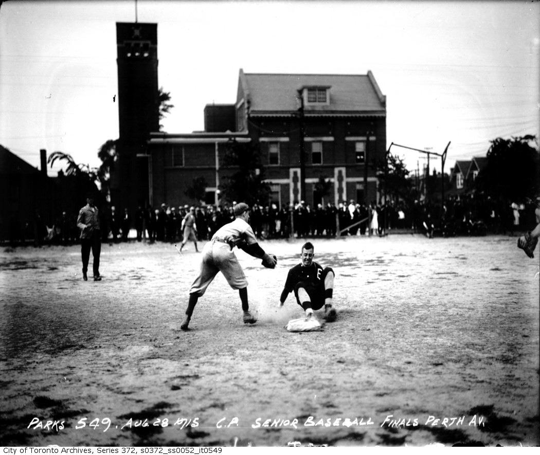 Perth Avenue Playground — Senior Baseball, Finals aug 28 1915