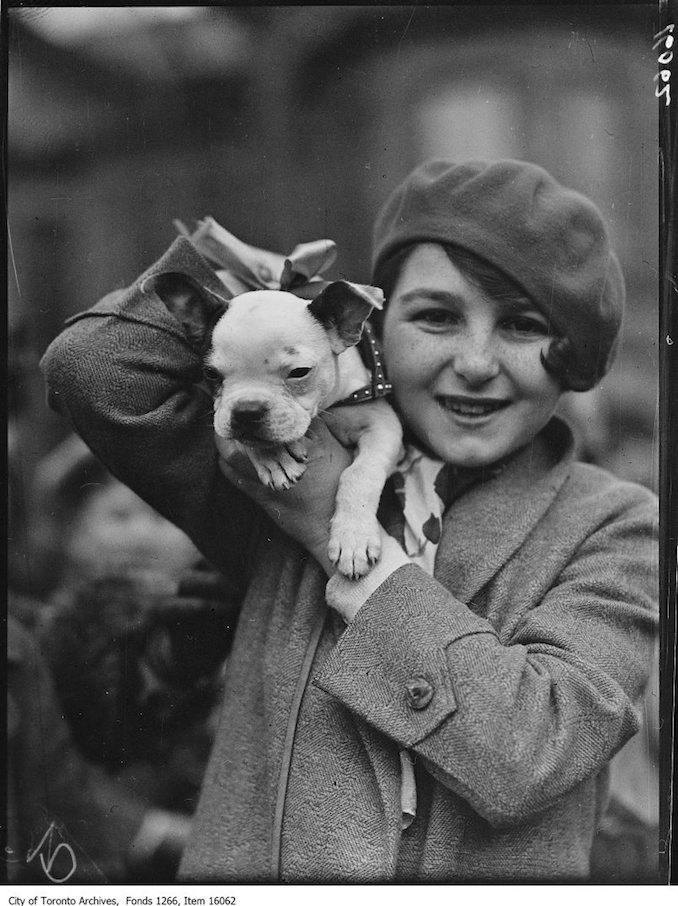 Pets Parade, Buddy, Lenore Triller, age 13. - April 2, 1929 - Vintage Animal Photographs