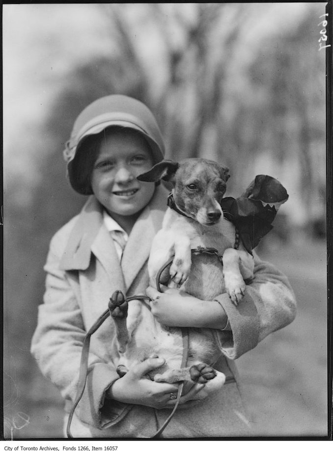 Pets Parade, Nellie, Mary Smith, age 11. - April 2, 1929 - Vintage Animal Photographs