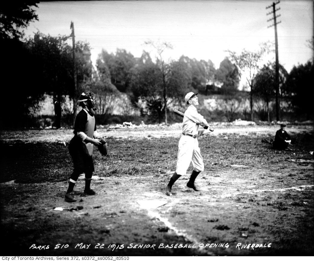 Riverdale Park — Senior Baseball, Opening may 22 1915