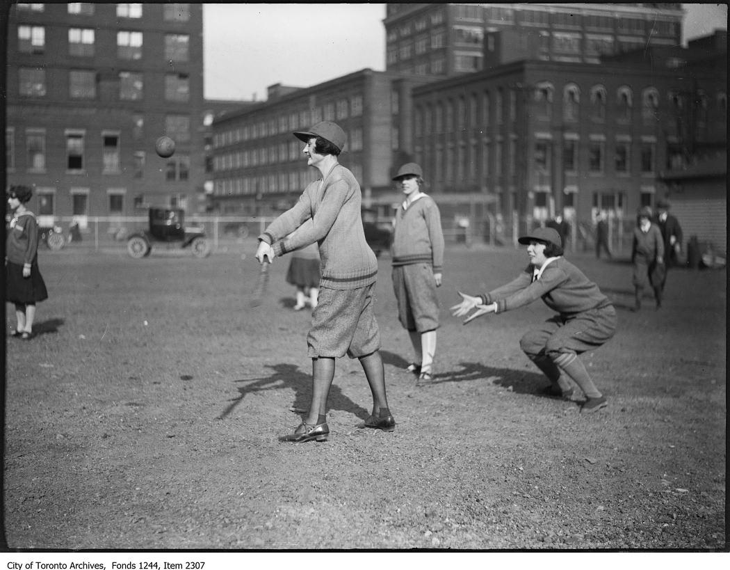 Women playing softball. - [ca. 1924]