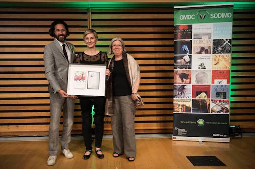 Mark Sakamoto, Véronique-Marie Kaye and Denise Truax Trillium Book Award
