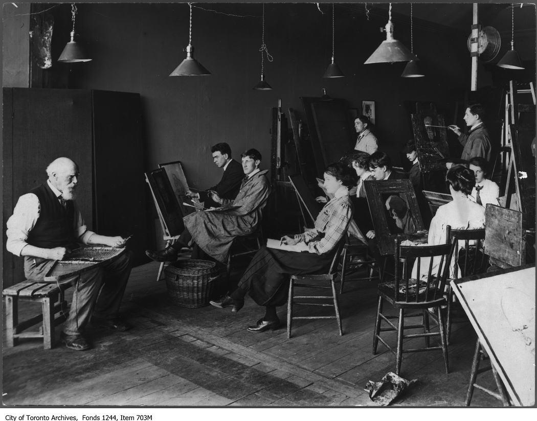 1911 - Life drawing class, Ontario School of Art, The Grange