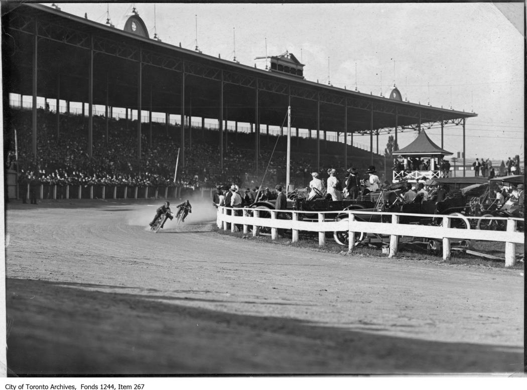 1911 - Motorcycle race, CNE Grandstand
