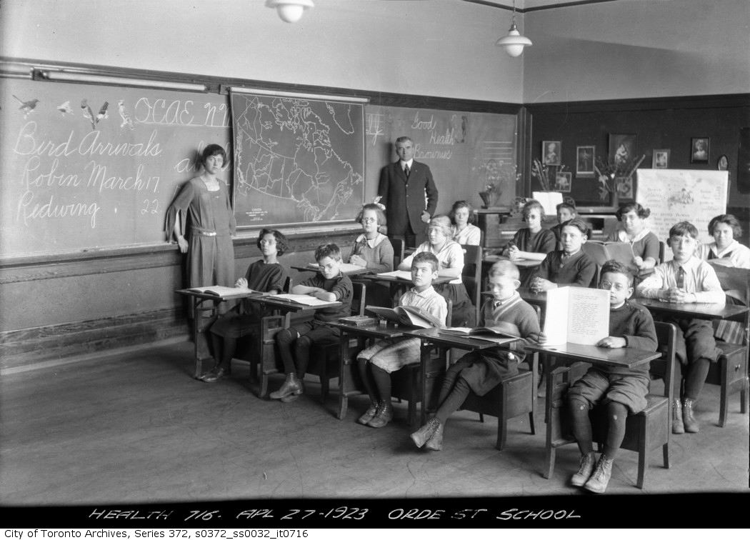 1923 - Orde Street School — sight saving adjustable desk copy
