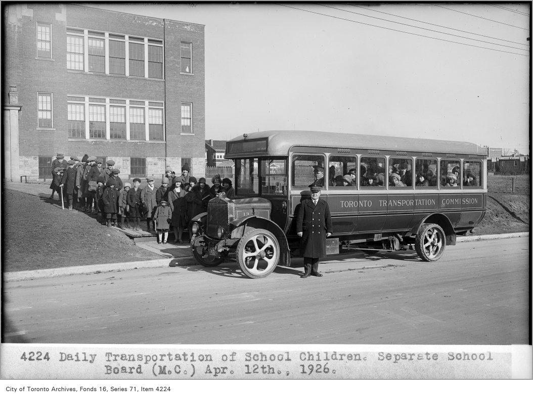1926 - Daily transportation of school children, Separate School Board