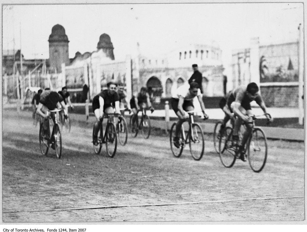 1926 - Finish of bicycle race, CNE