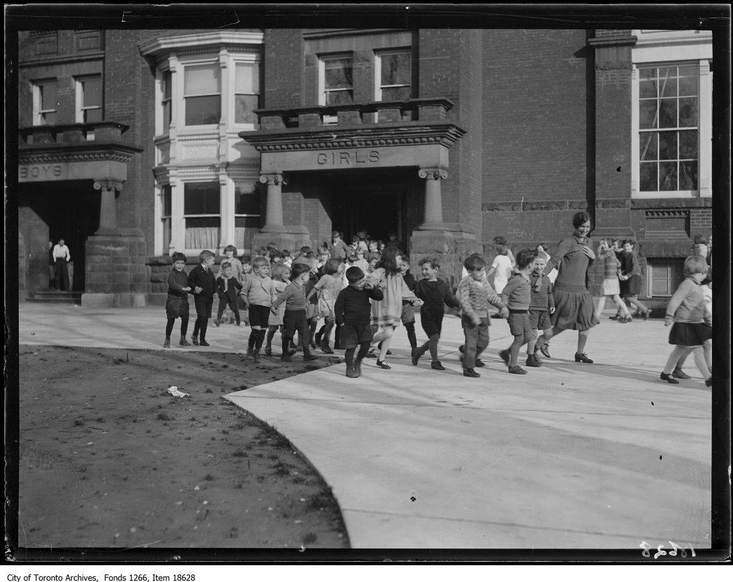 1929 - Fire-drill, Queen Alexandra School, Broadview Avenue