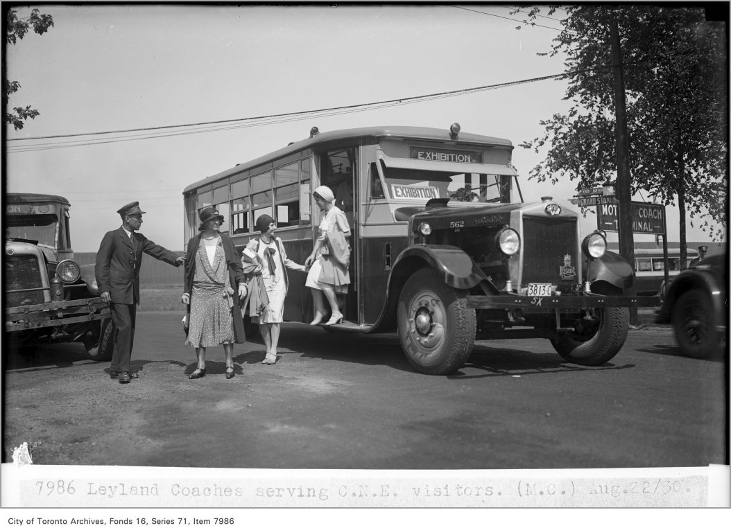1930 - Leyland coach serving Canadian National Exhibition visitors