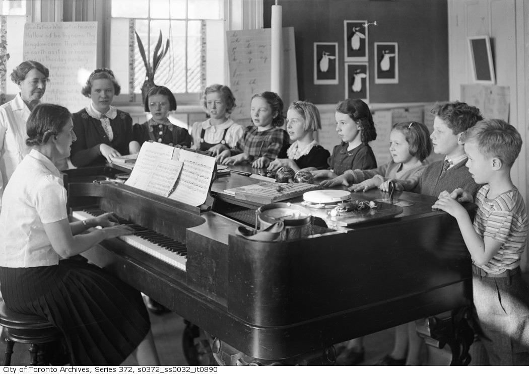 1940 - Music Class. Unidentified school