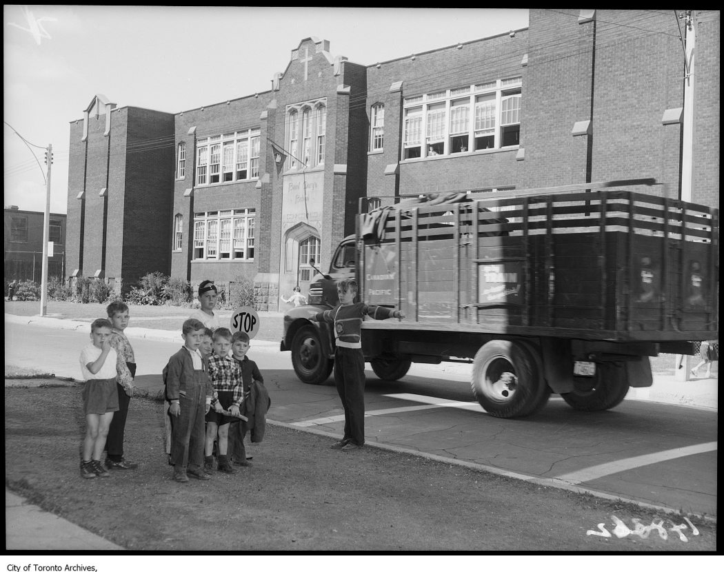 1952 - St. Mary's School traffic patrol