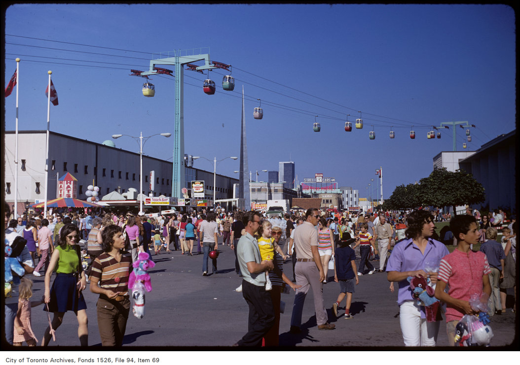 1972 - View of crowd on CNE grounds