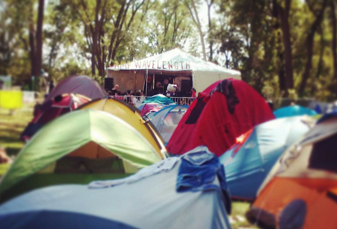 Campsite at Camp Wavelength 2016