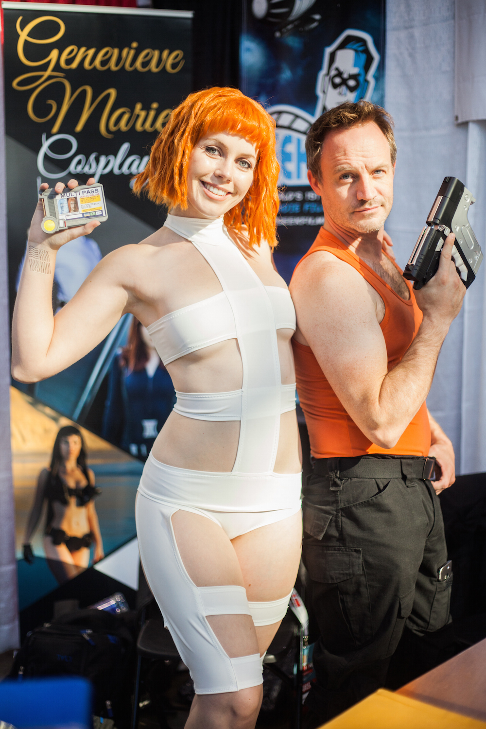 """Multipass"" Leeloo and Korben Dallas from The Fifth Element"