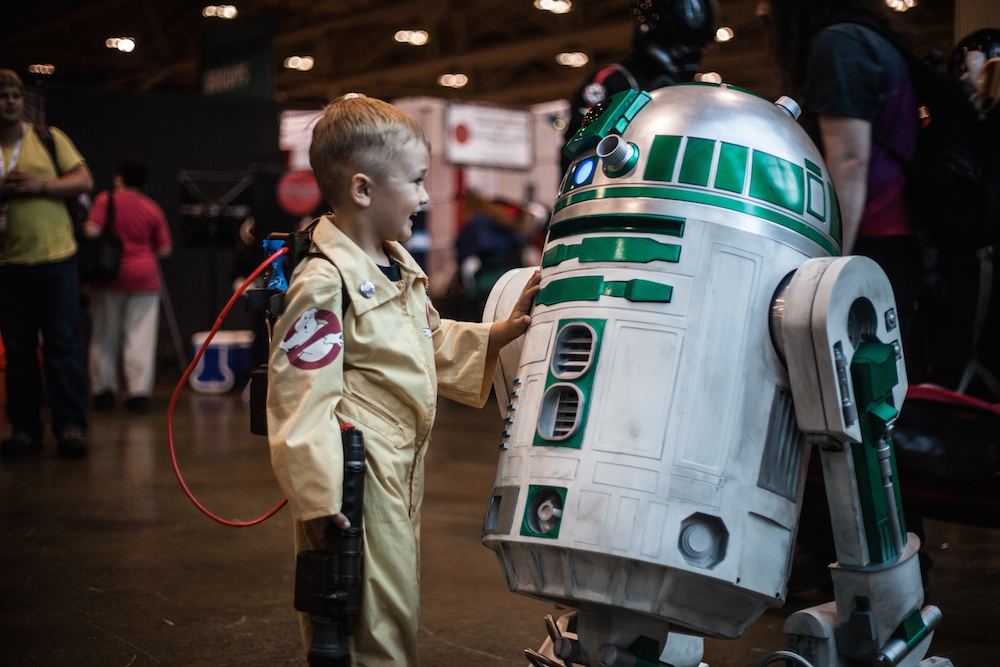 Boy meets Droid cosplay photographs