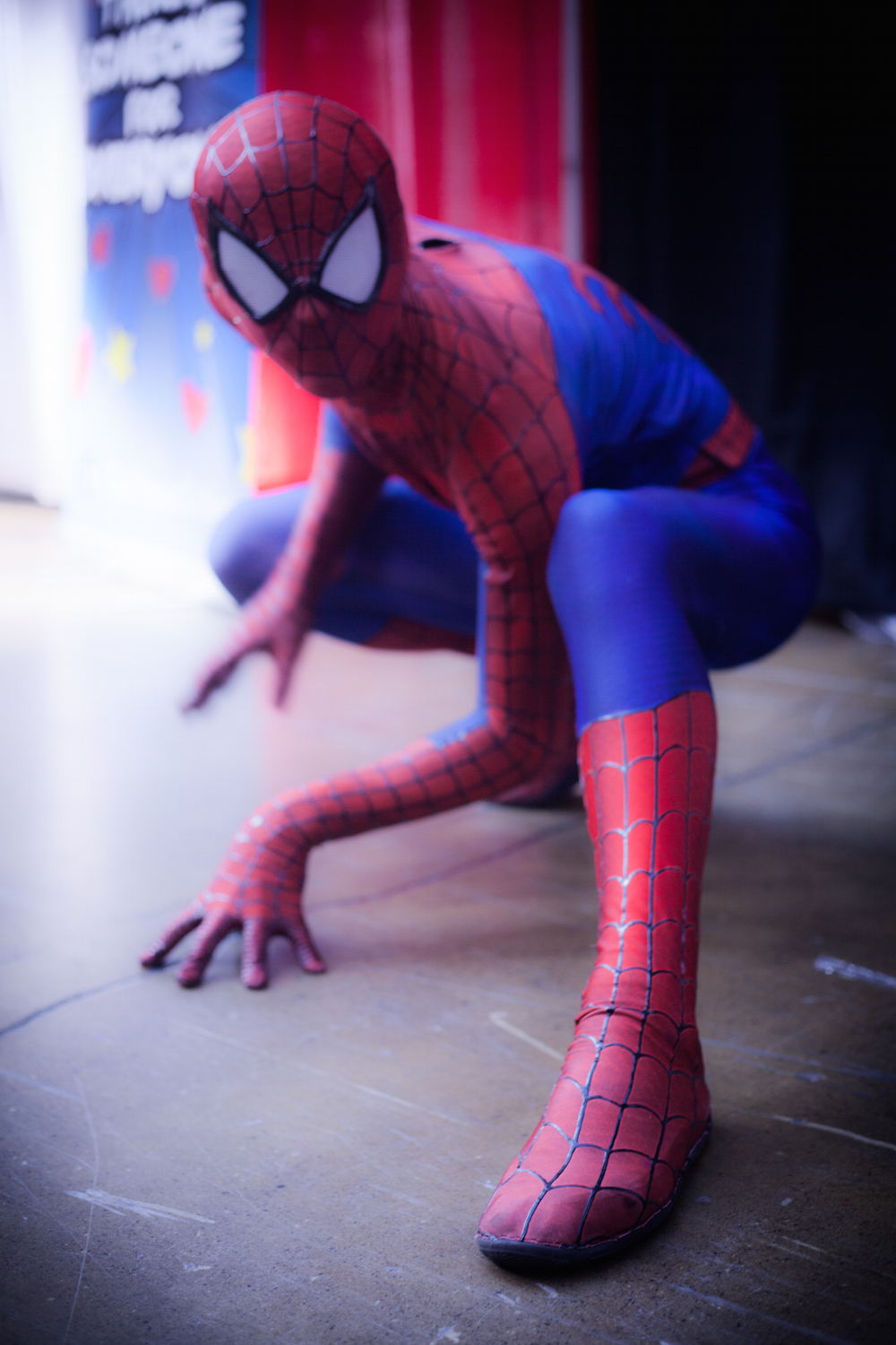 Spider Man cosplay photographs
