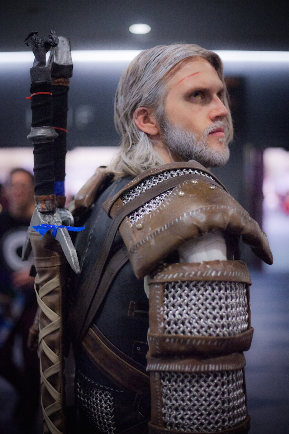 Geralt from The Witcher cosplay photographs
