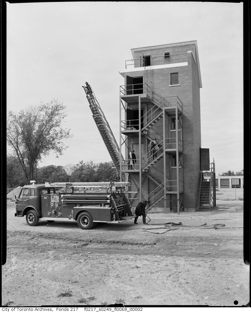1963 - Fire Department training tower in North York