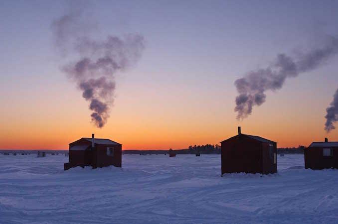 ice fishing - Ontario Winter Destinations