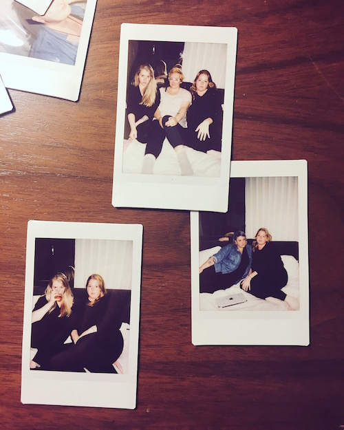 Polaroids from a set with some friends.