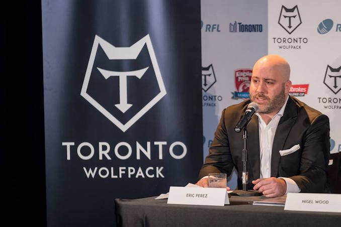 Eric Perez CEO Toronto Wolfpack Rugby Team