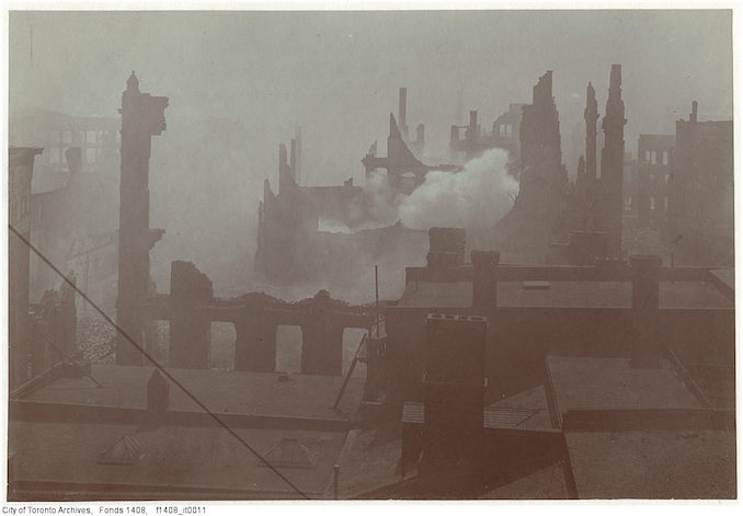 1904 - Aftermath of the 1904 fire: looking south from the Telegram building