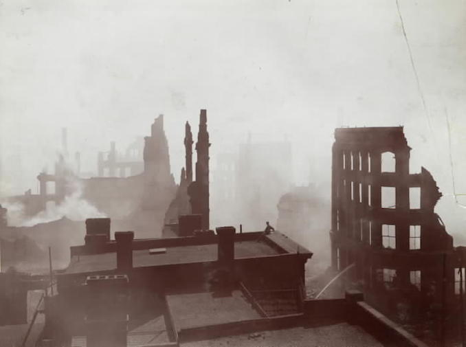 1904 - aftermath of fire, Bay St., s. from top of Telegram Building