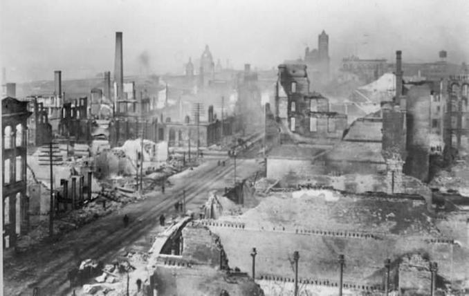 1904 - aftermath of fire, Front St. W., w. of Yonge St