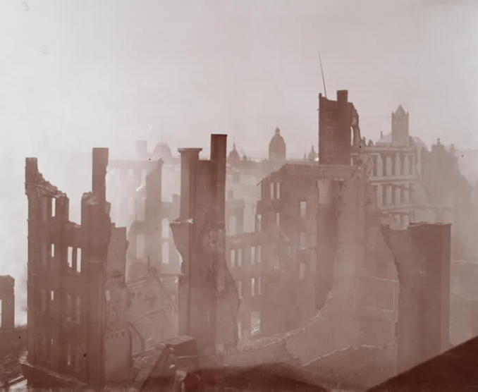 1904 - aftermath of fire, looking s.w. from top of Telegram Building