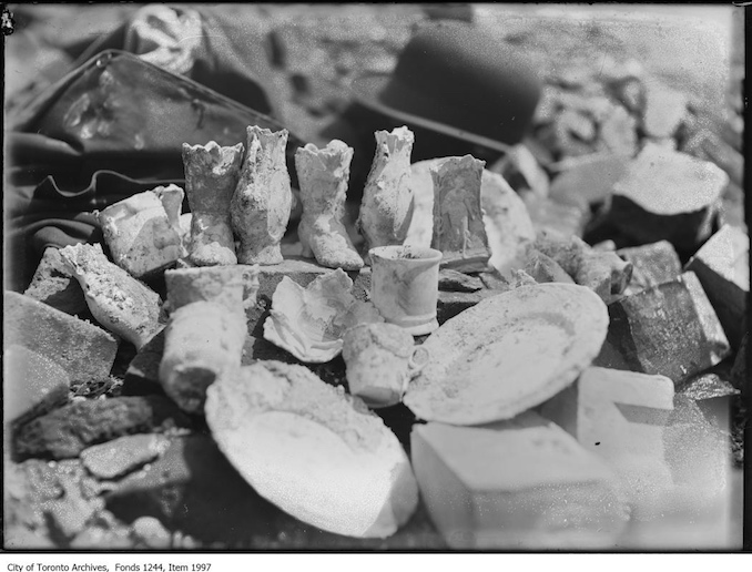1907 - Pottery found in ruins of 1904 Fire.