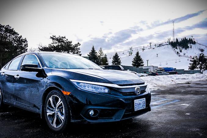 Honda Civic Sedan at Pine Knob Ski Resort
