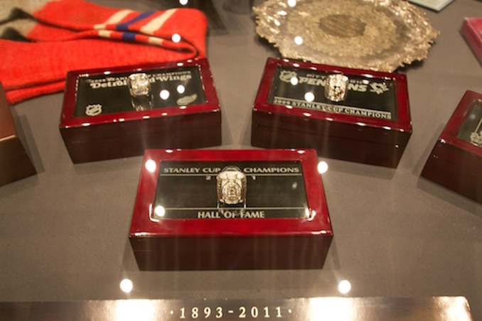 Hockey hall of fame rings