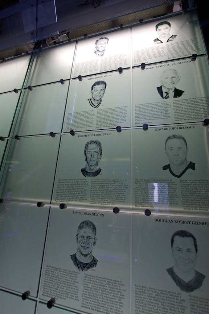 Hockey hall of fame wall