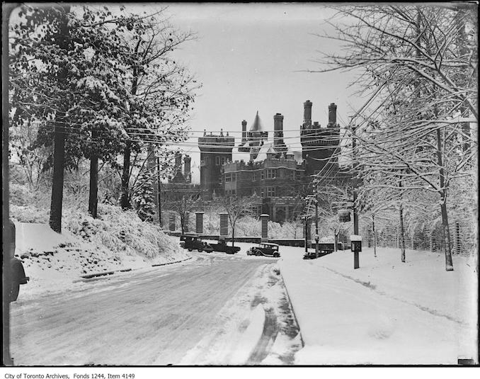 Casa Loma from the north. - [ca. 1936]