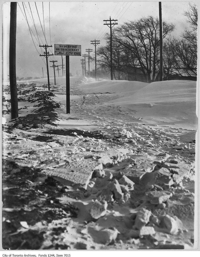 Toronto Winter Photographs Cherry Street south. - 1908