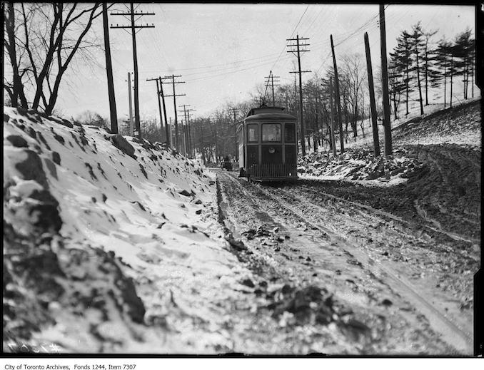 Toronto Winter Photographs Davenport Road, west of Bathurst Street. - 1908