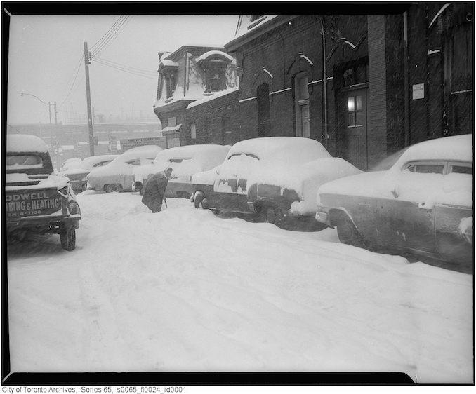King Street West at John Street - January 26, 1961
