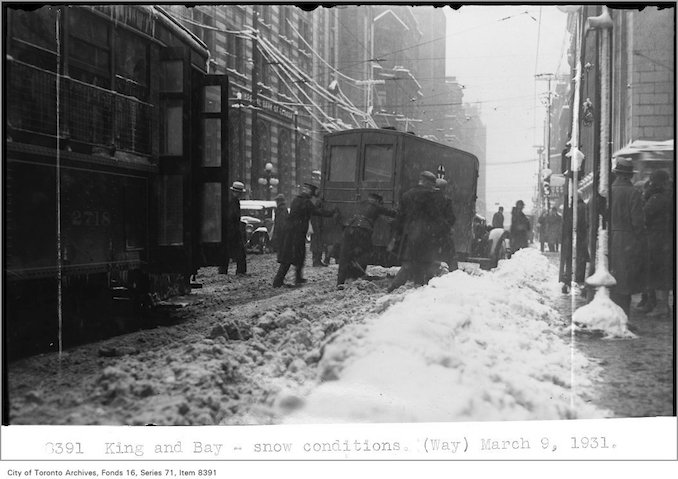 Creator: Alfred J. Pearson Date: March 9, 1931 King and Bay - King and Bay