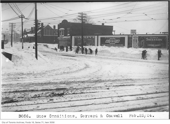 Snow conditions, Gerrard and Coxwell