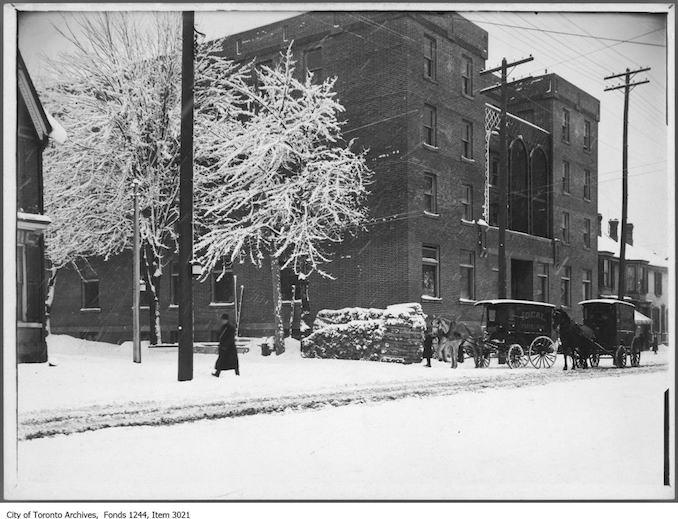 Toronto Winter Photographs YWCA , St. Patrick Street. - [ca. 1908]