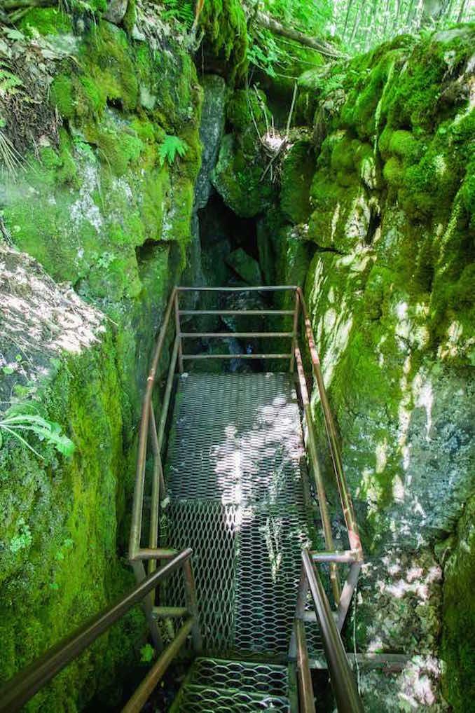Georgian Bay camping trips scenic caves